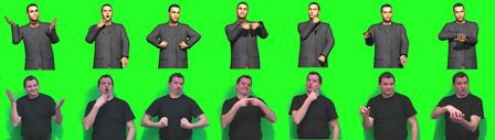 An animated online character displays content in sign language, mimicking the gestures of lecturer Peter Schaar