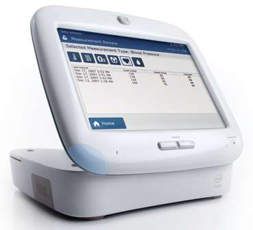 The in-home patient device of the Intel Health Guide system